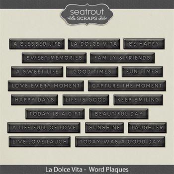La Dolce Vita Word Plaques