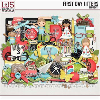 First Day Jitters - Elements Digital Art - Digital Scrapbooking Kits
