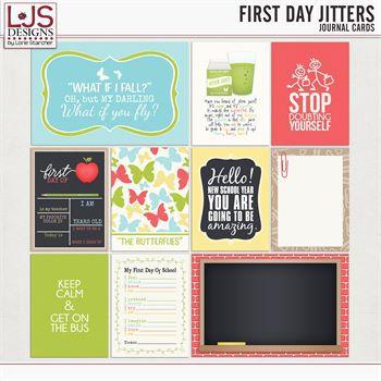First Day Jitters - Journal Cards Digital Art - Digital Scrapbooking Kits
