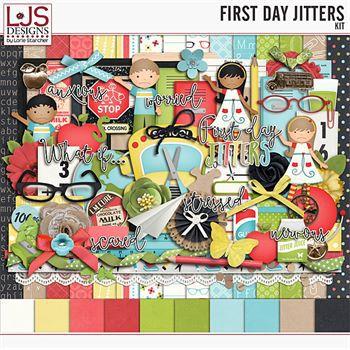 First Day Jitters - Kit Digital Art - Digital Scrapbooking Kits