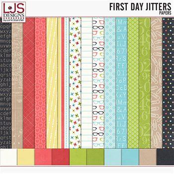 First Day Jitters - Papers Digital Art - Digital Scrapbooking Kits