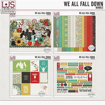 We All Fall Down - Bundle Digital Art - Digital Scrapbooking Kits