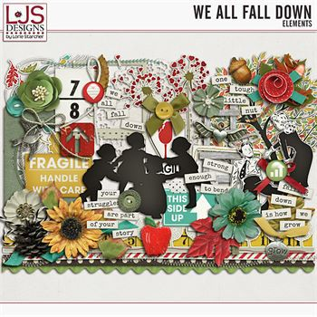 We All Fall Down - Elements Digital Art - Digital Scrapbooking Kits