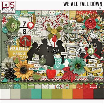 We All Fall Down - Kit Digital Art - Digital Scrapbooking Kits