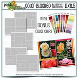 11x8.5 Color-blocked Blueprint Collection