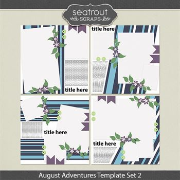August Adventures Template Set 2