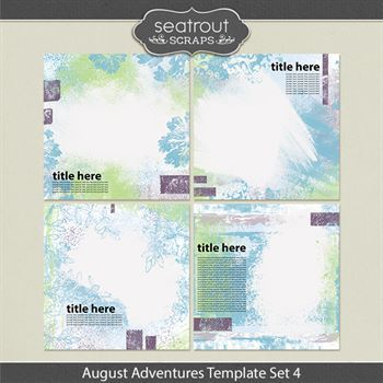 August Adventures Template Set 4