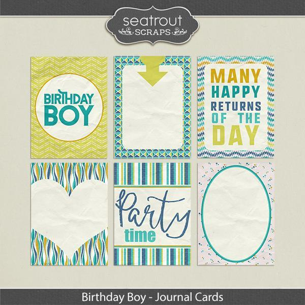 Birthday Boy Journal Cards