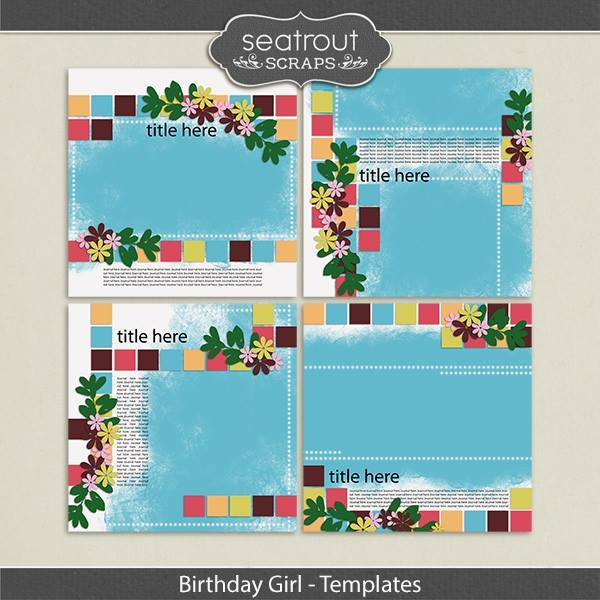 Birthday Girl Templates