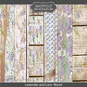 Lavender And Lace Wooden Papers
