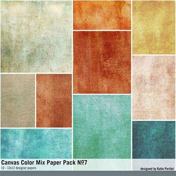 Canvas Color Mix Paper Pack No. 07