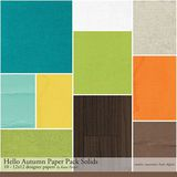 Hello Autumn Solids Paper Pack