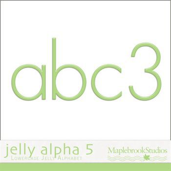 Jelly Alphabet No. 05 Digital Art - Digital Scrapbooking Kits