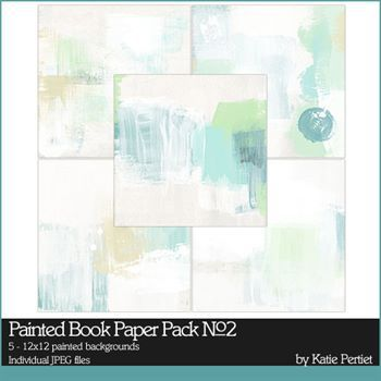 Painted Book Paper Pack No. 02 Digital Art - Digital Scrapbooking Kits