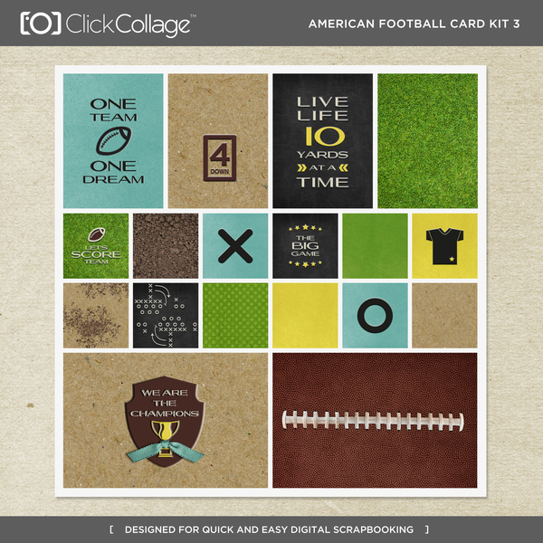 American Football Card Kit 3