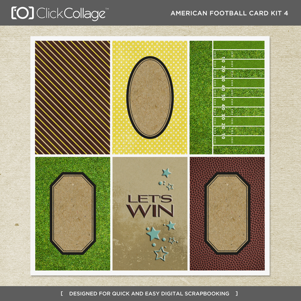 American Football Card Kit 4