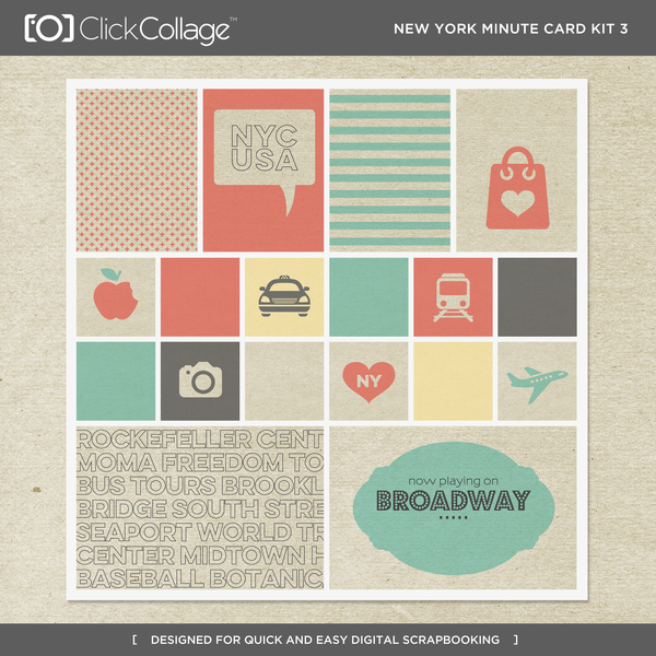 New York Minute Card Kit 3