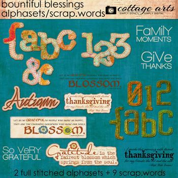Bountiful Blessings Word Art Walphasets