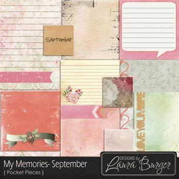 My Memories September Pocket Pieces