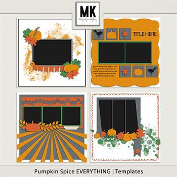 Pumpkin Spice Everything - Template Set