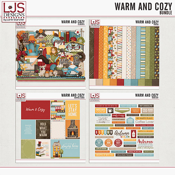 Warm And Cozy - Bundle Digital Art - Digital Scrapbooking Kits