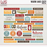 Warm And Cozy - Word Art