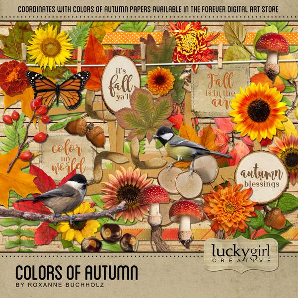 Colors Of Autumn Digital Art - Digital Scrapbooking Kits