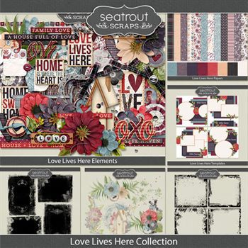 Love Live Here Discounted Bundle Digital Art - Digital Scrapbooking Kits