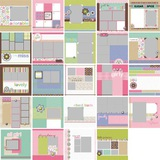 Modern Girl Predesigned Pages 12x12