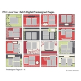P.S. I Love You 11 x 8.5 Predesigned Pages