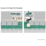 Cycling 12x12 Page Print Templates