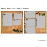 Ghouls & Goblins 12x12 Page Print Template