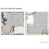 Golf 12x12 Page Print Templates
