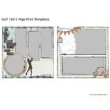 Golf 12x12 Page Print Templates