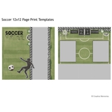 Soccer 12x12 Page Print Templates