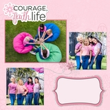 Think Pink 12x12 Page Print Templates