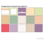 Changing Seasons Spring Summer Digital Kit