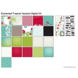 Enchanted Tropical Vacation Digital Kit