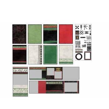 kwanzaa digital card kit digital art