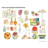 Classic Spring Digital Embellishments