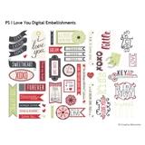P.S. I Love You Digital Embellishments
