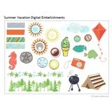 Summer Vacation Digital Embellishments