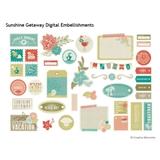 Sunshine Getaway Digital Embellishments