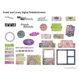 Sweet And Lovely Digital Embellishments