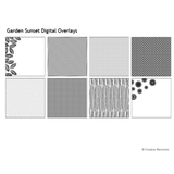 Garden Sunset Digital Overlays