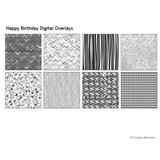 Happy Birthday Digital Overlays