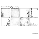 Seasonal Wedding Digital Overlays