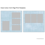 Clean Cotton 12x12 Page Print Templates