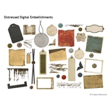 Distressed Digital Embellishments