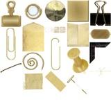 Office Supplies (gold) Digital Embellishments